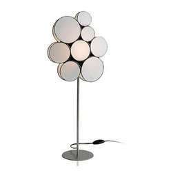 """Arturo Alvarez - Arturo Alvarez Gluc table lamp - The Gluc table lamp from Arturo Alvarez was designed by Arturo Alvarez and made in Spain. The Gluc table lamp is a flashy, fun and cheerful collection that reminds us of the shapes and colors of the 70's. A set of bubbles that provides diverse lighting solutions for both residential and commercial use.   Products description: The Gluc table lamp from Arturo Alvarez was designed by Arturo Alvarez and made in Spain. The Gluc table lamp is a flashy, fun and cheerful collection that reminds us of the shapes and colors of the 70's. A set of bubbles that provides diverse lighting solutions for both residential and commercial use. Details:                         Manufacturer:                         Arturo Alvarez                                         Designer:                         Arturo Alvarez - 2004                                         Made  in:            Spain                            Dimensions:                         Height: 27.75"""" (70.5cm) X Width: 12"""" (30.8cm)                                                     Light bulb:                                      1 X 60W E12                                         Material                         Metal, glass"""