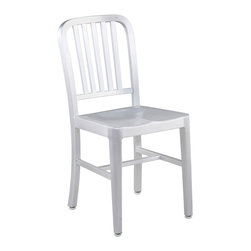 Inmod - Aluminum Cafe Side Chair (Set of 2) - The retro inspired Aluminum Cafe Side Chair is as cool as it is functional.