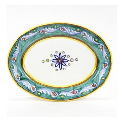 Artistica - Hand Made in Italy - Giada: Oval Platter - Giada Collection: