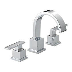 Delta - Delta 3553LF Vero Two Handle Widespread Lavatory Faucet (Chrome) - Delta 3553LF Vero Collection is inspired by the graceful and slim lines of a ribbon adding a high-end and modern look. The Delta 3553LF is a Two Handle Widespread Lavatory Faucet in Chrome.