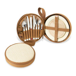 Picnic at Ascot - Bahamas Deluxe Travel Picnic Set - Features: