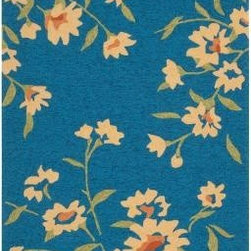 Surya - Area Rug: Paule Marrot Peacock Blue 5' x 8' - Shop for Flooring at The Home Depot. The Cannes collection boast a fun playful pattern from designer Paule Marrot. The lively Daisy-like flowers pop out against a bold solid background. Perfect to add personality to both indoor and outdoor room. This collection is medium pile, looped texture for enhanced durability.