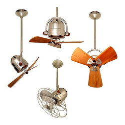 Bianca Directional Ceiling Fan - For someone who has never been a major fan of ceiling fans, I have to tell you how excited I am about this pocket sized ceiling fan. I am reminded of early twentieth century industry, there is something very beautiful yet institutional about this fan.