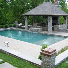 Traditional Pool by Michael Versen & Associates