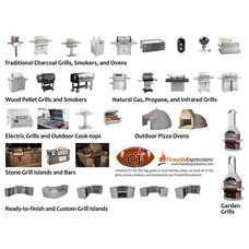 Modern Grills by CJ's Home Decor & Fireplaces