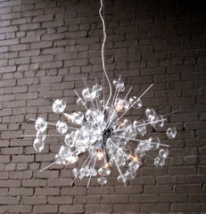 Bubbles Glass Chandelier - Chrome
