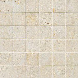 marblesystems - Casablanca Honed Mosaic Straight Joint - Natural limestone mosaic tile that can be used on floors and walls. Made in Turkey.