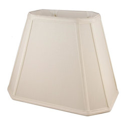 American Heritage Shades - Fabric Lampshade in Natural (10 in. Diam x 8.75 in. H) - Choose Size: 10 in. Diam x 8.75 in. HLampshade Types. Shantung faux silk with off-white fabric liner. Hand made. Matching top, bottom and vertical trim. Corner cut rectangle shape. Fitter type: 1 in. drop and washer for harp fitter. Enhances lamp and room decor. Made from polyester. Fitter in brass color. Made in USA. No assembly required