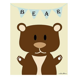 Oh How Cute Kids by Serena Bowman - Mod Bear in Mint, Ready To Hang Canvas Kid's Wall Decor, 8 X 10 - Each kid is unique in his/her own way, so why shouldn't their wall decor be as well! With our extensive selection of canvas wall art for kids, from princesses to spaceships, from cowboys to traveling girls, we'll help you find that perfect piece for your special one.  Or you can fill the entire room with our imaginative art; every canvas is part of a coordinated series, an easy way to provide a complete and unified look for any room.