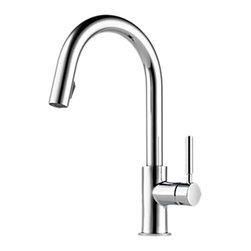 Brizo - Brizo 63020LF-PC Solna Polished Chrome Pull-down Kitchen Faucet - The Brizo 63020LF-PC is a one handle pull-down kitchen faucet from Brizo's Solna design suite featuring a seamless clean design wand crisp lines, and it comes in a Polished Chrome finish.