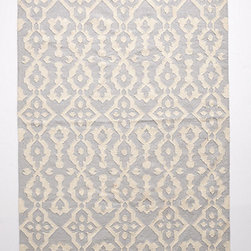 Anthropologie - Chanda Rug, Light Gray - I'd put this in the center of a kitchen space for a cozy look.