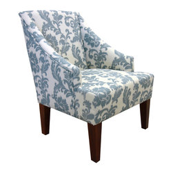 Armen Living - Ikat Fabric Accent Chair - Never compromising comfort, this gorgeous iKat fabric armchair emphasizes beauty without shying away from celebration. Each piece can own the show from center stage or play together harmonically with others as you mix and match in melodic synchronicity.