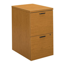 Hon - 10500 Series Mobile Pedestal 2 - Sort it all out with this functional file cabinet. Two deep drawers are perfectly sized for keeping your hanging folders organized and out of sight. You can use this piece to coordinate with other furniture in this office series, or as a stand-alone piece.