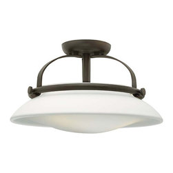 Hinkley Lighting - Hinkley Lighting 3321OZ Hutton Oil Rubbed Bronze Semi-Flush Mount - Hinkley Lighting 3321OZ Hutton Oil Rubbed Bronze Semi-Flush Mount