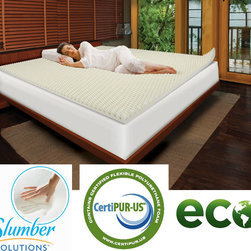 Slumber Solutions - Slumber Solutions Highloft Eco 2-inch Memory Foam Mattress Topper - This 2-inch premium memory foam mattress topper features a high flow foam formulation designed to keep the sleeper comfortable during periods of rest. The textured memory foam design provides additional air flow for maximum comfort.