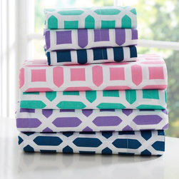 Peyton Sheet Set - I think these sheets are so fun! They're a great example of how a great textile can bring such personality.