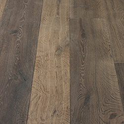 Campagne Gray Custom Aged French Oak floors - We admit to being crazy about tile and flooring in general, it can just add so much to a homes design. This gorgeous aged french oak is just too beautiful, it would add so much to a homes sense of place. Would really work in a wide variety of settings but has a bit of a rustic or French country feel.