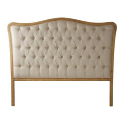 Maison Tufted Headboard, Queen - Natural