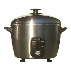 Sunpentown - Stainless Steel Rice Cooker/Steamer, 6-Cup - This stainless steel rice cooker and steamer offers multi-functional cooking options: cooks rice and porridge, stews soup, steams vegetables, fish and poultry, and much more - all with a simple touch of a button. Cooks with steam to maintain nutrients for a healthy lifestyle. Stainless steel components: body, cover and inner pot. Features automatic shut-off and independent Warm switch.
