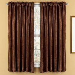 Elegant Home Fashions - Elegant Home Fashions Aretha Rod Pocket Window Panels - WC4513 - Shop for Curtains and Drapes from Hayneedle.com! Let in the light and the luxury with these elegant Elegant Home Fashions Aretha Rod Pocket Window Panels Crafted with 100% polyester these two faux silk panels have rich silk texture slight sheen and sheer backing that adds light-blocking privacy while still staying soft and flowy. Includes two panels with a 3 in. hem and 3 in. pocket at the top for easy hanging from a window rod. Machine washable. Choose from available colors.