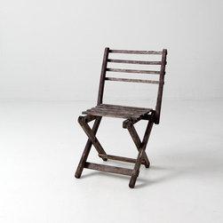 Vintage Children's Folding Chair -
