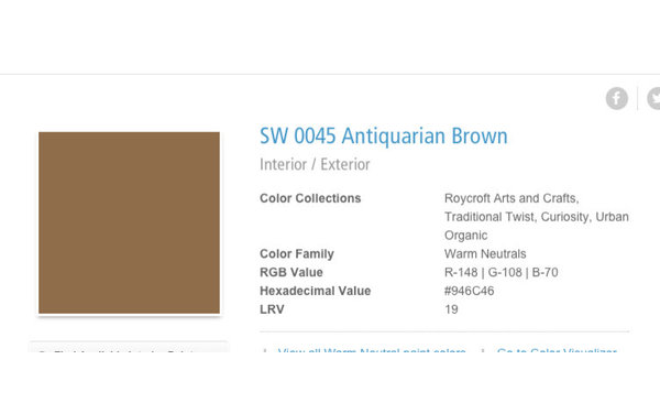 What Colors Complement Sw Antiquarian Brown: what color compliments brown furniture
