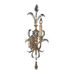 Fine Art Lamps - Fine Art Lamps 704950ST Beveled Arcs Silver Leaf Wall Sconce - 1 Bulb, Bulb Type: 60 Watt Candelabra; Weight: 8lbs