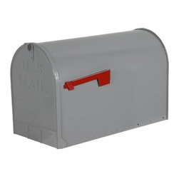 SOLAR GROUP - Mailbox Rural Stanley Jumbo Gray - This jumbo size mailbox is constructed from heavy-duty galvanized steel and has a durable ribbed body for extra strength.