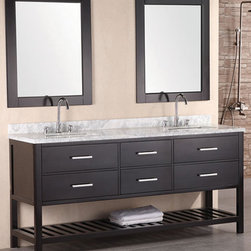 "72"" London Double Sink Vanity - Espresso (DEC077B) -"