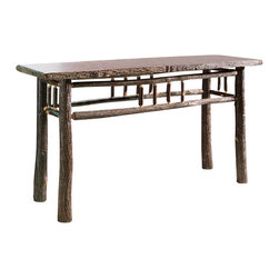 Flat Rock Furniture - Flat Rock Berea Sofa Table - A natural hickory table suitable for any room. Finished with catalyzed lacquer for lifetime durability