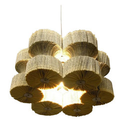 ecofirstart - Light Reading - Read up on this light fixture to see why it's a bestseller! Made entirely of book pages that are folded in half, it's eco-friendly, too. A true conversation piece, it's bound to create a stir wherever you decide to hang it.