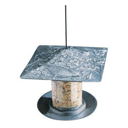 """Cardinal Tube Feeder - The red Cardinal is the state bird in seven U.S. states.  This Cardinal Tube Bird Feeder will be popular with all of the birds in your neighborhood.  Standing 6"""" with a wide base and square roof, your bird feeder is weather resistant and made to last.  A great gift for sports fans in St. Louis or Arizona.  An even better gift for anyone who loves birds! Another one of our"""