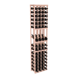 Wine Racks America - 4 Column Display Row Wine Cellar Kit in Redwood, White Wash Stain - Make your best vintage the focal point of your wine cellar. Four of your best bottles are presented at 30° angles on a high-reveal display. Our wine cellar kits are constructed to industry-leading standards. Youll be satisfied with the quality. We guarantee it.