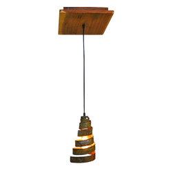 "Wine Country Craftsman - Rustic - ""Aralia"" - Reclaimed Barn Wood & Wine Barrel Ring Adjustable Chandelier - Rustic - ""Aralia"" - Reclaimed Barn Wood & Wine Barrel Ring Adjustable Chandelier"