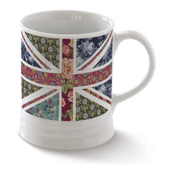 Fringe Studio - Union Jack Floral 10-Oz. Mug - This porcelain mug will be a special gift to a special person. With an easy-to-wash construction and charming design, it'll be their new favorite container for tea or coffee.   3.38'' W x 4.13'' H Holds 10 oz. 100% porcelain Dishwasher-safe Imported