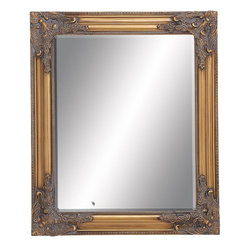 Benzara - Wooden Beveled Rectangular Design Mirror in Natural Wood Finish - A wooden beveled mirror that offers nothing less than a perfect look, this one is your pick for a imperial decor. Exuding a regal charm, this sturdy mirror made of the finest quality broad wooden panel encloses a supreme quality mirror. Durability, robustness and long life come natural with this classic masterpiece. All you have to do is hang it in the most visible corner of your living space and get ready to win accolades for your choice from one and all. This wooden beveled mirror in a royal wooden color with accents in the corners gives your home decor a whole new dimension.