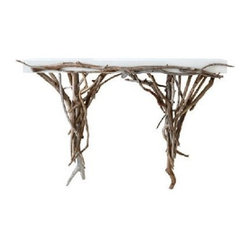 ecofirstart - Driftwood Console - If you could wander the shore and collect gnarled driftwood to fashion into a gorgeous console table, you would. Because it probably isn't likely, instead choose to bring this glorious force of nature into your home.