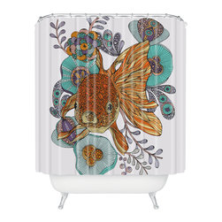 DENY Designs - Valentina Ramos Little Fish Shower Curtain - Who says bathrooms can't be fun? To get the most bang for your buck, start with an artistic, inventive shower curtain. We've got endless options that will really make your bathroom pop. Heck, your guests may start spending a little extra time in there because of it!