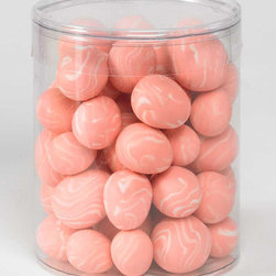 K&K Interiors - Pink Egg Décor Set - Ready to accent your springtime décor, this set of 54 pink eggs enhances your mantel or tabletop with ease.   Includes 54 eggs 1'' W Imported