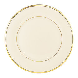 Lenox - Lenox Eternal Dinner Plate - A Lenox classic,in ivory fine china and 24 karat gold. This Eternal plate will be the beautiful centerpiece of each place setting on your table. It's neutral hue will complement virtually any table decor.
