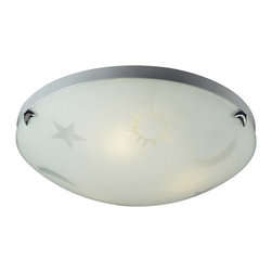 Elk Lighting - Elk Lighting 5088/3 Novelty Night Sky Flush Mount Ceiling Light - Fun For All Ages!  These Whimsical Lighting Fixtures Will Put A Smile On You Or Your Child'S Face With A Myriad Of Shapes And Themes Meant To Stir The Imagination And Create A Lighthearted Environment.