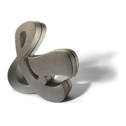 House Industries - House Industries Cast Aluminum Ampersand - This decorative sculpture is a fun piece on its own as a doorstop or paired as bookends. This eye-catching ampersand would look great displayed in your office, living room or kitchen.