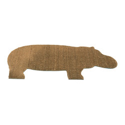Droog - hippo doormat - This very hip(po) coir doormat is delightfully designed to add charm to your home while giving you ample room to stop undesirable, outside influences in their tracks.