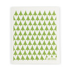 Swedish Dishcloth Little Trees, Green - THE SWEDISH ECO-FRIENDLY DISHCLOTH: The dry sponge cloth was invented in 1949 by the Swedish engineer Curt Lindquist, who discovered that a mixture of natural cellulose (wood pulp) and cotton can absorb an incredible 15 times its own weight in water.