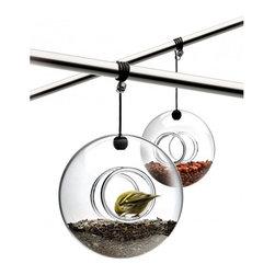 Eva Solo - Eva Solo Bird Feeder - Hand-blown glass bird feeder with fixture.Item also available on: