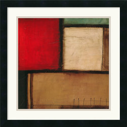 "Amanti Art - ""Yield"" Framed Print by Candice Alford - This abstract piece by Candice Alford enriches your home with interesting art as well as a pop of color. The vivid red not only draws your eye to the painting but will also bring out the bits of red in your carpet or in your other decorative accents as well."