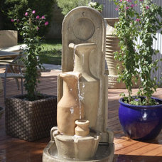 Mediterranean Outdoor Fountains by Serenity Health & Home Decor