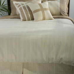 Rizzy Rugs - Melon Natural California King Duvet with Poly Insert Bed Set - - Construction: Applique, piecing and tone on tone woven fabric details  -  Muted tones of beige, sand and ivory create a calm and tranquil ensemble ideal for any transitional setting. Now your room can become your place of serene solace with this elegant and subtle bedding selection.  - Care and Cleaning: Machine wash separately Rizzy Rugs - BT0428 CK