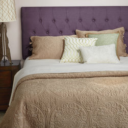 None - Humble + Haute Hampton Iris Purple Linen Queen Diamond Tufted Upholstered Headbo - Create a fresh take on bedrooms with stylish upholstered headboards from Humble + Haute. The upholstered headboard is adjustable to accommodate a wide range of mattress heights. The soft linen fabric provides a stylish texture and long lasting durability