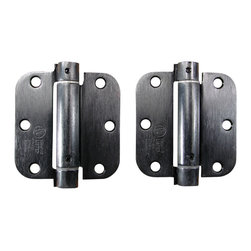 """3.5"""" X 3.5"""" With 5/8"""" Radius Oil Rubbed Bronze Spring Hinges - - 3.5 inch x 3.5 inch with 5/8 inch radius Oil Rubbed Bronze Spring Hinges"""